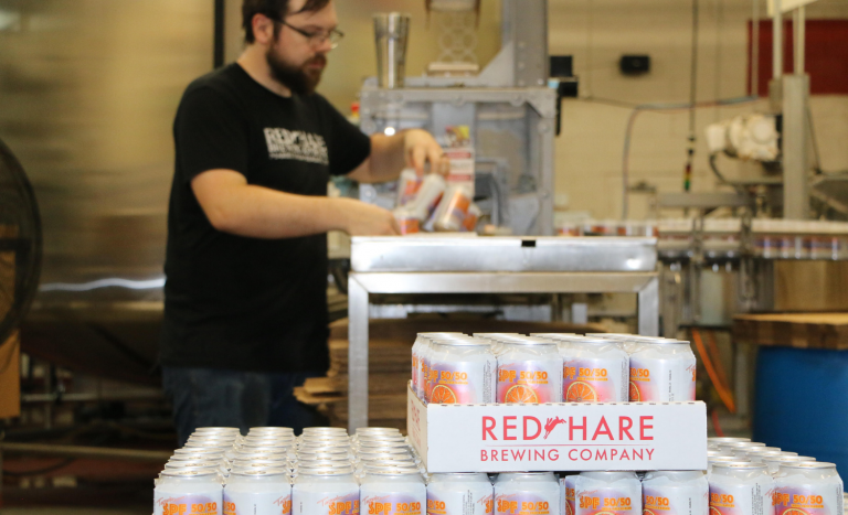 SPF 50/50s are canned and here for the summer! In the Tap Room and in stores!